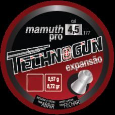 CHUMBINHO 4,5mm TECHNOGUN MAMUTH PRO EXPANSÃO (C/250un.)
