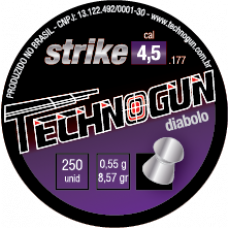 CHUMBINHO 4,5mm TECHNOGUN STRIKE DIABOLÔ (C/ 250un.)